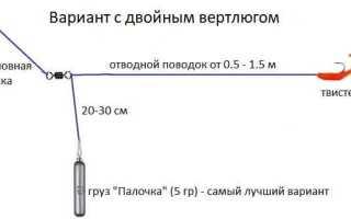 Монтаж отводного поводка на окуня