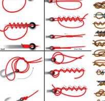 Способы вязки рыболовных крючков