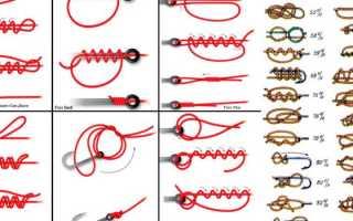 Простые узлы для крючков