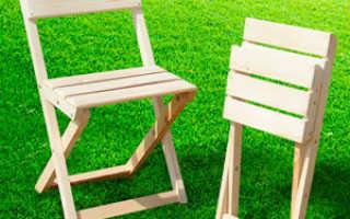 Самодельные складные стулья