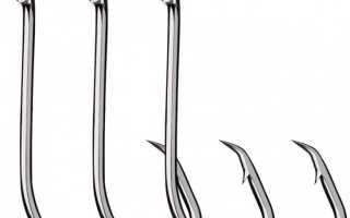 Номера рыболовных крючков и их размеры