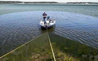 Рыбалка с эхолотом с лодки видео